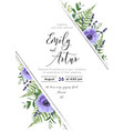 wedding floral invite save the date design vector image vector image