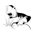 welder logo black and white vector image vector image