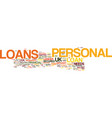 your needsyour loans uk personal loans text vector image vector image