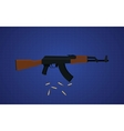 ak47 gun with blue background vector image