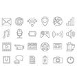 Media icons set vector image