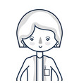 woman doctor with medical uniform vector image