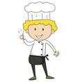 Male chef vector image