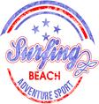 Surf Rider text design vector image