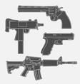 4 gun line drawings vector image