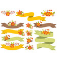 Autumn Ribbons Set vector image vector image