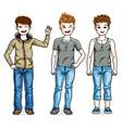 beautiful little boys cute children standing vector image
