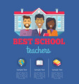 best school teachers with text vector image