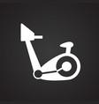 bike trainer on black background vector image