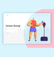 bixing training character design for landing page vector image