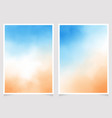 blue sky and sand beach abstract watercolor vector image vector image