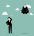 Businessman meditating over his competitor vector image vector image