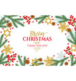 christmas template background vector image