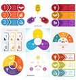 collections infographics elements template 3 vector image