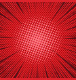 comic bright red background vector image vector image