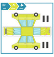 cut and glue a paper car children art game for vector image
