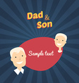 Dad and Son Flat Design with Place for Text vector image vector image