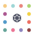 diamond flat icons set vector image