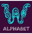 Doodle hand drawn sketch alphabet Letter W vector image