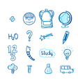 education doodle icon set vector image vector image