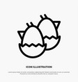 egg baeaster nature line icon vector image
