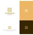 elegant and luxury minimal logo design vector image