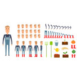 farmer character creation set icons with vector image vector image