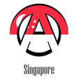 flag of singapore of the world in the form of a vector image
