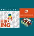 flat recruitment concept vector image