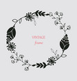 floral ornament of leaves flowers swirls vector image vector image