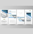 flyers set modern banners business templates vector image vector image