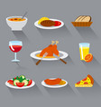 food dishes icon vector image vector image