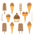 for natural tasty ice cream vector image vector image