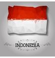 geometric polygonal Indonesia flag vector image vector image