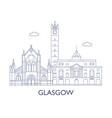 glasgow vector image vector image