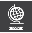 Globe sign icon Geography symbol vector image vector image