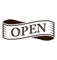 graphic vintage open on ribbon vector image vector image