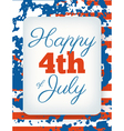 happy 4th july card national american holiday vector image vector image