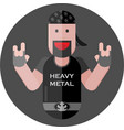 heavy metal fan vector image