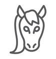 horse line icon animal and zoo vector image