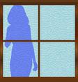 in the bathroom vector image vector image