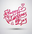 inscription to Valentines Day vector image vector image