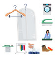 isolated object of laundry and clean sign set of vector image