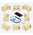 Isometric parts of the cardboard virtual reality vector image vector image