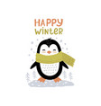 little penguin scandinavian vector image vector image