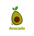logo avocado flat color style vector image
