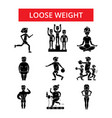 loose weight thin line icons linear vector image vector image