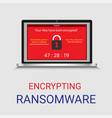 malware encrypted file in computer ransomware vector image vector image