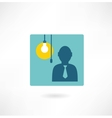 man with a light bulb icon vector image