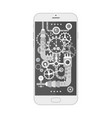 modern smartphone with different steampunk vintage vector image vector image